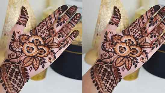 Half Hand Mehndi Design Simple And Easy