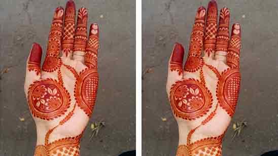 Half Hand Mehndi Design Simple