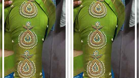 Hand Embroidery Designs In Blouse
