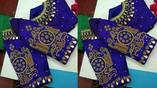 Hand Embroidery Designs On Blouse