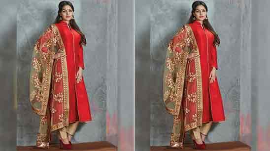 High Neck Design For Salwar Suit