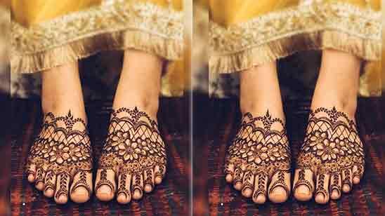 Leg Mehandi Simple Design