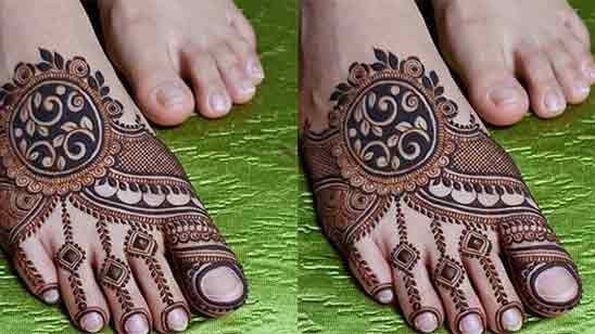 Leg Mehendi Design Simple