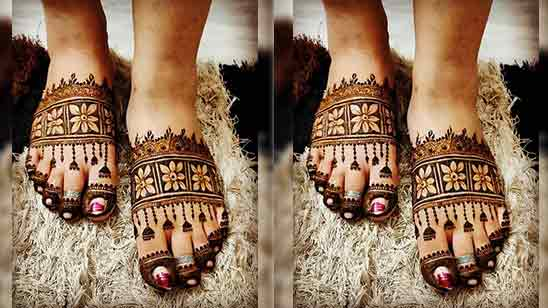 Leg Mehndi Design Images Simple And Easy