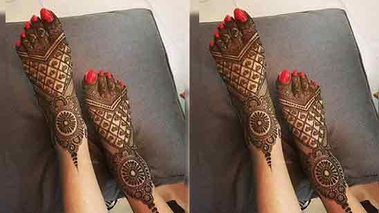 Leg Mehndi Design Simple And Easy