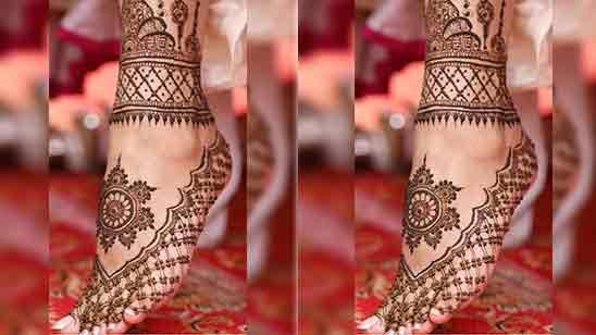 Leg Mehndi Design