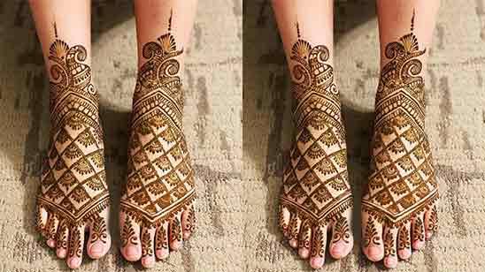 Leg Mehndi Easy Design