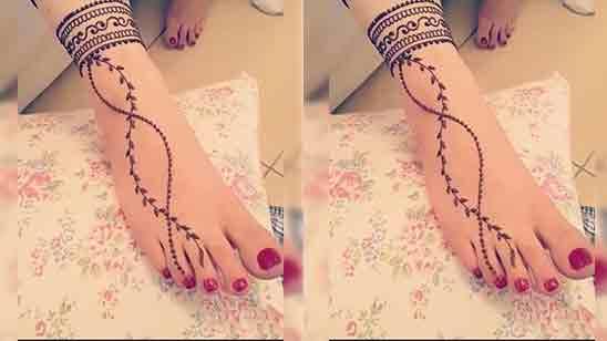 Mehendi Design For Leg Simple
