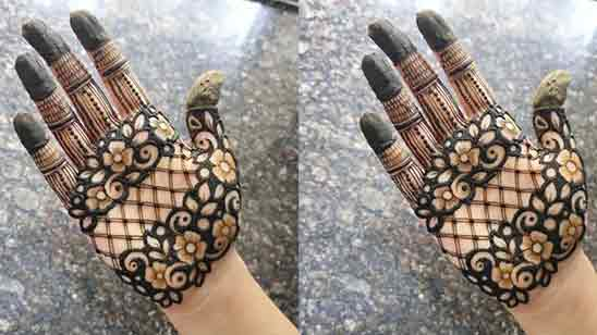 Mehndi Design Easy And Simple Front Hand