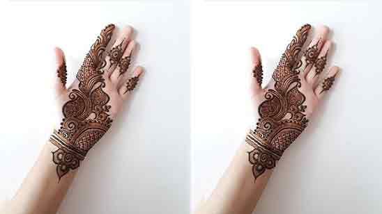 Mehndi Design Simple Front Hand Easy