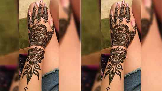 Mehndi Designs Arabic Simple And Easy Front Hand