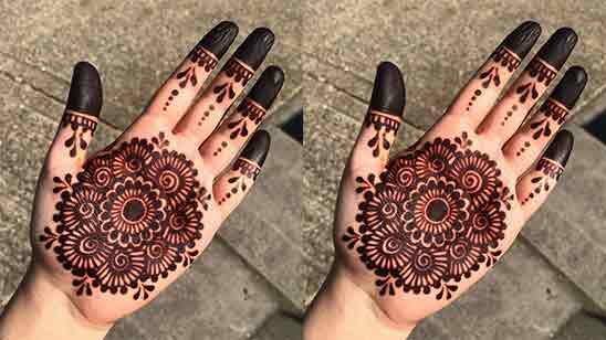Modern Simple Mehndi Designs For Front Hands