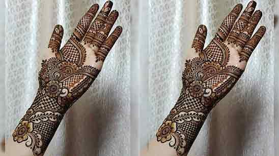 New Arabic Simple Mehndi Design