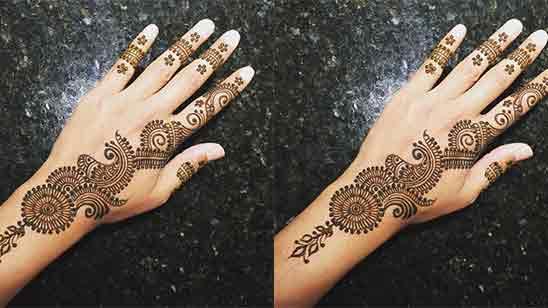 New Simple Back Hand Mehndi Design