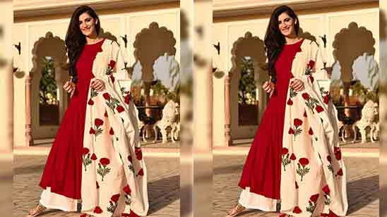 Party Wear Anarkali Salwar Suit