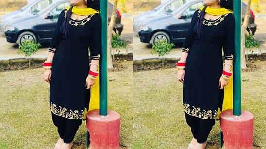 Party Wear Punjabi Dress