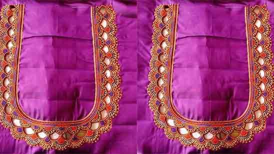 Pattu Blouse Aari Work Blouse Hand Designs