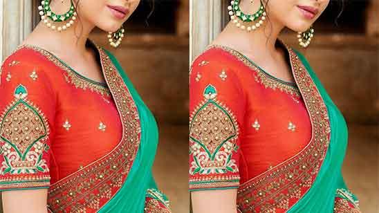 Peacock Aari Work Blouse Designs