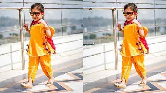Punjabi Salwar Suit For Baby Girl