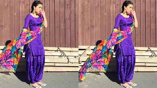 Punjabi Salwar Suit For Girl