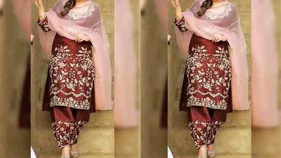 Punjabi Salwar Suit Neck Design