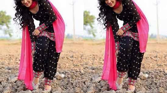 Punjabi Suit With Patiala Salwar