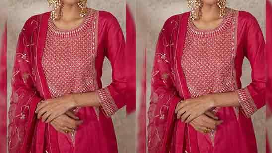 Red Punjabi Suit Design