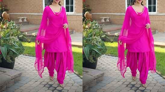 Red Suit Ladies Punjabi