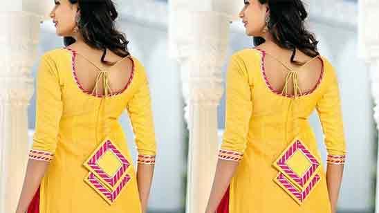 Salwar Kameez Back Neck Design