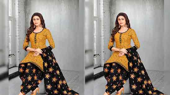 Salwar Suit Simple Neck Design