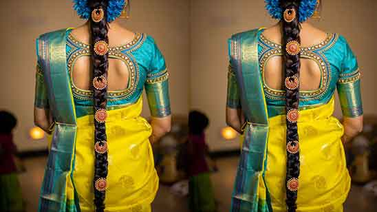 Silver Aari Work Blouse Designs