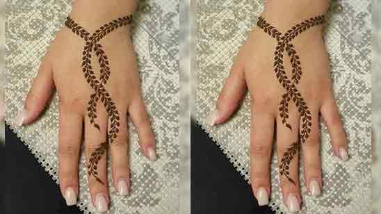 Simple 1 Finger Mehndi Design