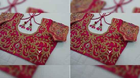 Simple Aari Work Blouse Design