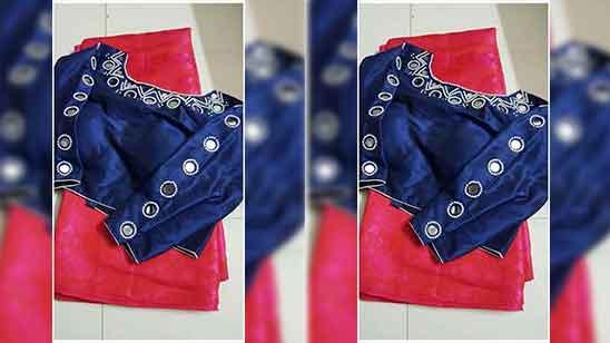 Simple Aari Work Blouse Designs