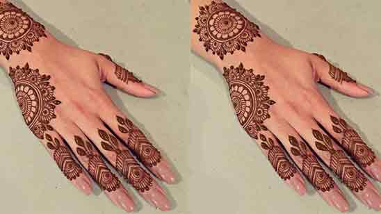 Simple And Easy Back Hand Mehndi Design