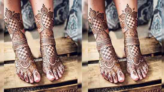 Simple And Easy Foot Mehndi Design