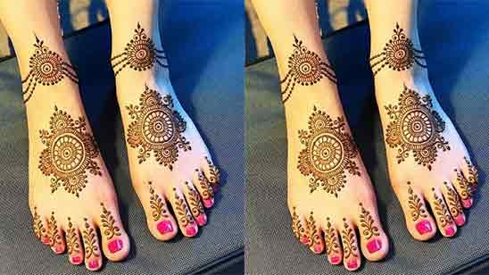 Simple And Easy Leg Mehndi Design