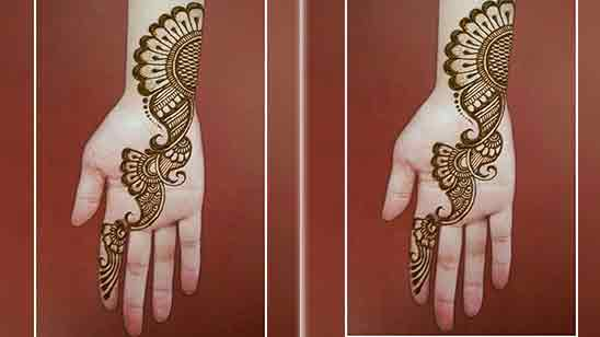 Simple And Easy Mehndi Designs For Front Hand