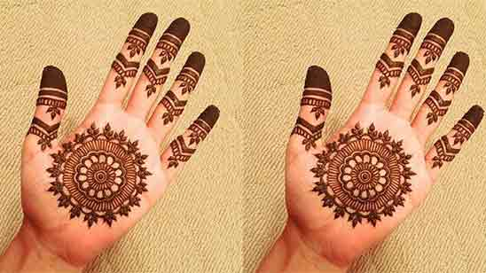 Simple And Easy Mehndi Designs For Front Hands