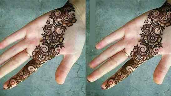 Simple And Modern Mehndi Design