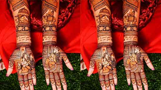 Simple Arabic Mehndi Designs For Front Hand