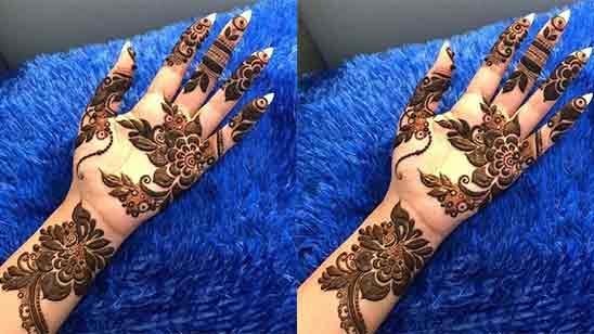 Simple Arabic Mehndi Designs For Full Hands