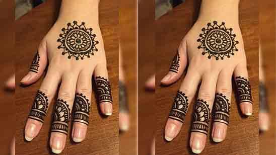 Simple Back Side Hand Mehndi Design