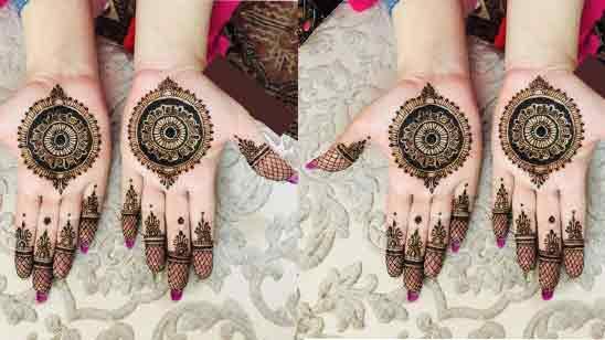 Simple Easy Front Hand Modern Mehndi Design