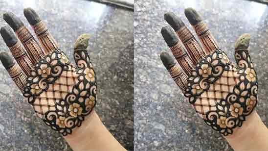 Simple Front Hand Mehndi Design