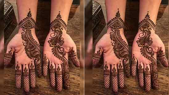 Simple Front Hand Mehndi