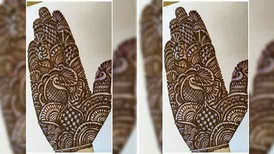 Simple Front Side Mehndi Design