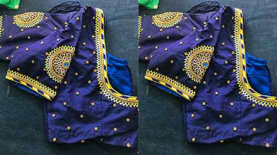 Simple Hand Embroidery Designs For Blouse Sleeves