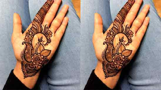 Simple Mehndi Design For Kids Front Hand