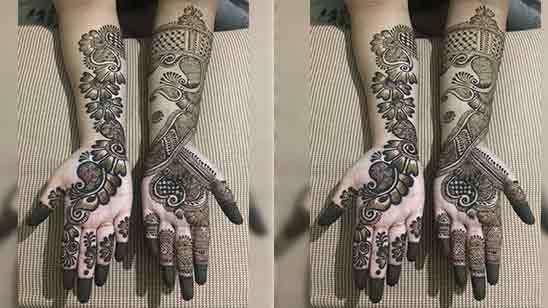 Simple Mehndi Design In Full Hand